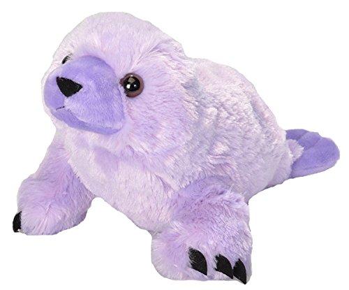 Wild Republic Harp Seal Plush, Stuffed Animal, Plush Toy, Gifts for Kids, Vibes, Purple 12