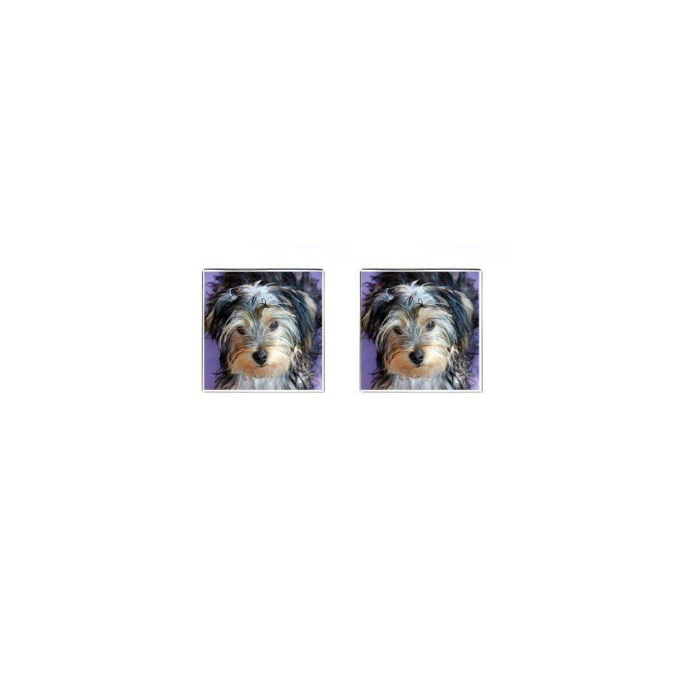 Yorkshire Terrier Puppy Dog 3 Square Cufflinks F0654