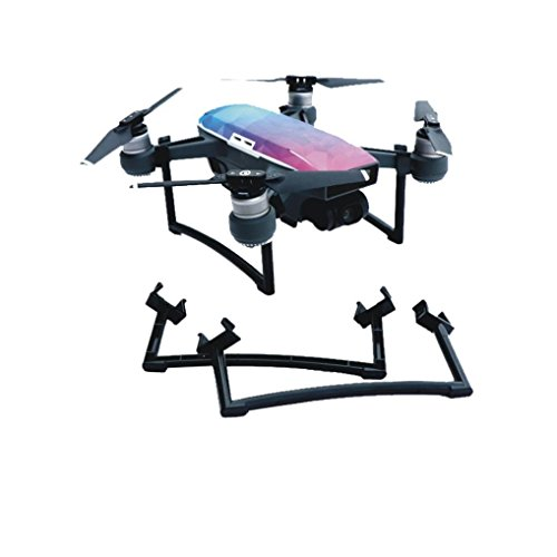 Price comparison product image GBSELL Landing Gear Foot Extended Stand Heighten Protector Frame Holder For DJI SPARK Drone (black)