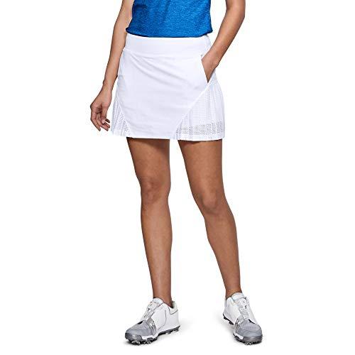 (Under Armour Women's Links Knit Mesh Skort, White (100)/White, Medium)