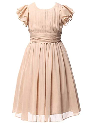 Happy Rose Flower Girl's Dress Prom Party Dresses Bridesmaid Dress Champagne -
