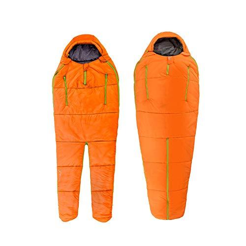 Spleißen Mummy Single Schlafsack Baumwolle Bein Split Familie Outdoor Indoor Menschliche Form Erwachsene Camping Schlafsack