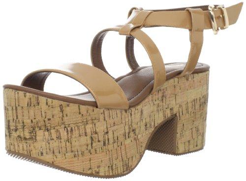 Beige Nero Sandalo Con Piattaforma Farrah Donna
