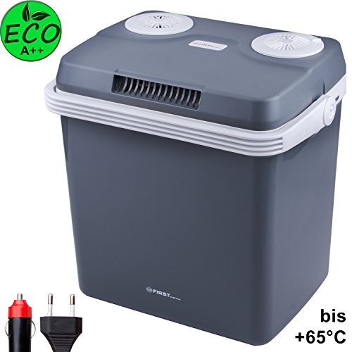 32 Liter Kühlbox, zum warmhalten oder kühlen, thermo-Elektrische Kühlbox 12 Volt und 230 Volt, Mini-Kühlschrank | für Auto und Camping