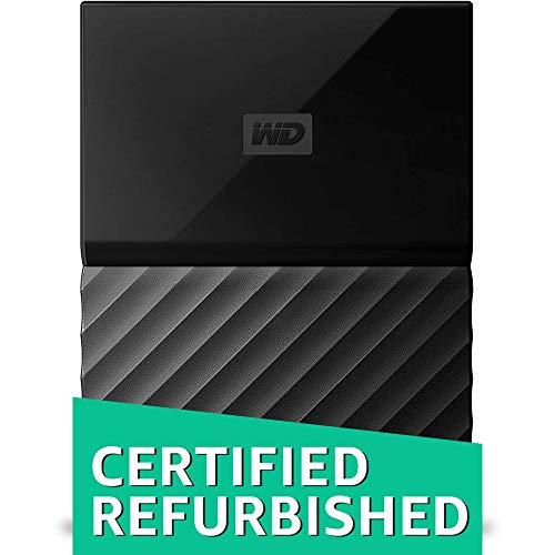 WD 2TB Black My Passport Portable External Hard Drive - USB 3.0 - WDBS4B0020BBK-WESN (Certified Refurbished) -