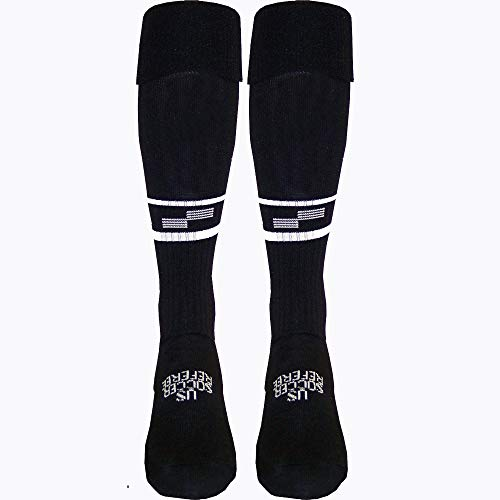 USSF Economy Soccer Sock (Black, Adult Large)