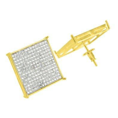 Yellow Finish Earrings Diamonds Rapper product image