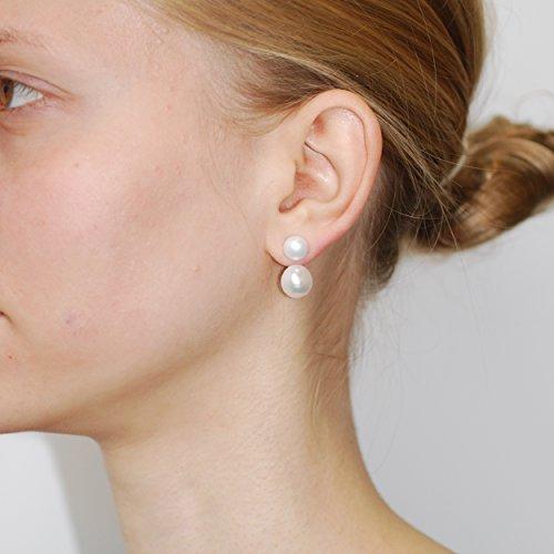 Dower & Hall - Boucles d'oreilles - Argent 925 - Perle - PLE51-S-WP