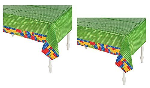 Set of 2 Fun Express Plastic Color Brick Party 54