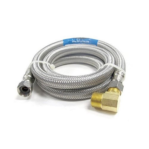 Easyflex EF-DC-38C38L-96 Stainless Steel Braided Dishwasher Connector, 3/8