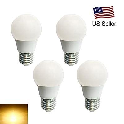 RCLITE 4PCS 4W E27 LED Bulbs,G45 Globe Blub,25W Incandescent Bulbs Equivalent, 3500K ,Warm White Light Bulbs for Home,Office,Commercial Lighting