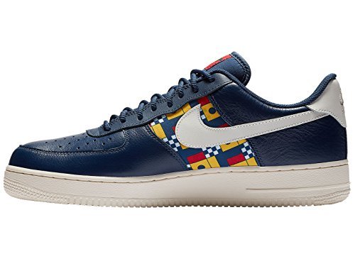 Scarpe Air Red Lv8 Basse 001 Force NIKE Ginnastica da Midnight '07 Uomo Gym Sail 1 Navy Multicolore Aq4Zwx