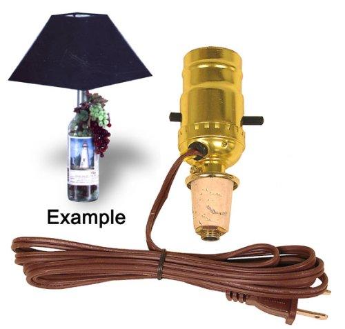 Wine Cork Keepsake (Cork Stopper Lamp Kit Turns a Keepsake Wine Bottle Into An Instant Lamp (Pkg/4))