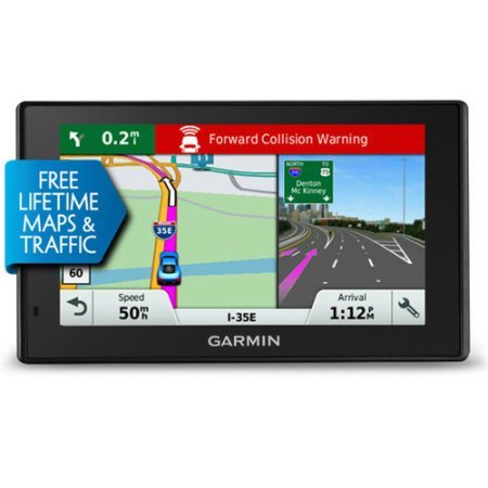 Garmin DriveAssist 50 NA LMT GPS Navigator System with Built-in Dash Cam, Camera-assisted Alerts, Lifetime Maps and Traffic, Smart Notifications, and Voice Activation