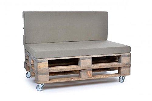 Palettenkissen, Gartenmöbel Auflagen, Sitzbankauflage, Matratzenauflagen auch m. Rückenlehne bzw. Dekokissen, wie Baumwolle, taupe, scheuer- und abriebfest, für Loft oder Lounge