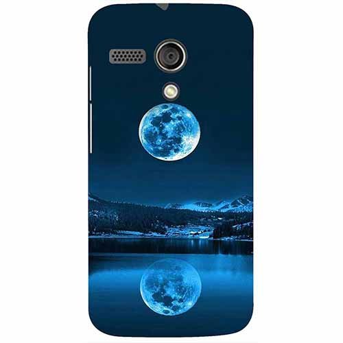 Casotec Moon Pattern Print Design 3D Printed Hard Back Case Cover for Motorola Moto G 1st Generation
