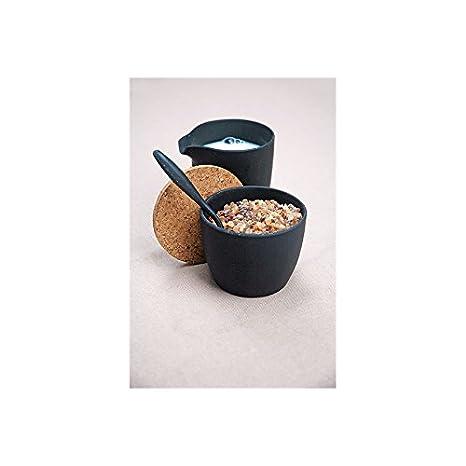 De Leche y azúcar Set Dash & Dulce - Fibra de Bambú y maíz, Carbon Black: Amazon.es: Hogar