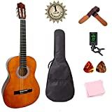 Classical Guitar Acoustic Guitar Starter Kits for Beginners with Tuner Extra Strings Picks Wipe (36 inch 3/4 Size)