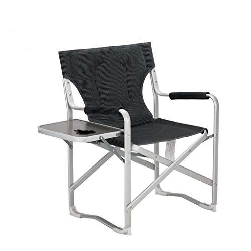 QRFDIANPatio Lounge Chair Outdoor Portable Folding Chair ▏ with Side Lift Beach Lounge Chair ▏ Boss Star Director Office Armchair Folding, Desk Chair