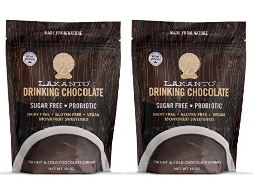 Lakanto Drinking Chocolate, 1 Net Carb, 10 Ounce (Pack of 2)