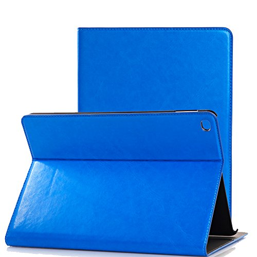 Price comparison product image iPad Pro 12.9 Case, SorbSun Smart Protective Fold Folio Flip Stand Case Cover with Card Slot and Pocket for Apple iPad Pro 12.9 2015 Release - Blue