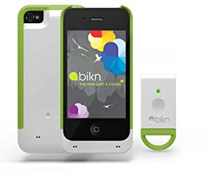BiKN Locator Device for iPhone 4/4S Case and Tag (White and Green)