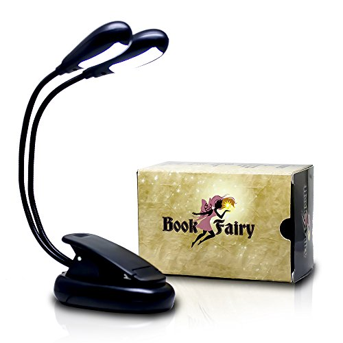 - Book Fairy 12 LED Adjustable Reading Light with 4 Brightness Settings | Clip-on Flexible Book Light and Music Stand Light | Perfect Kids Reading Light