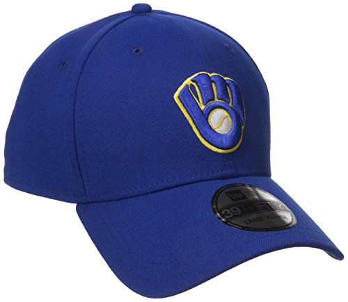 Milwaukee Brewers Classic Baseball - MLB Milwaukee Brewers Team Classic Alternative 39Thirty Stretch Fit Cap, Blue, Medium/Large