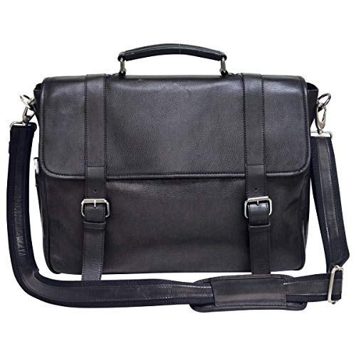 - Bellino Marshall Leather Briefcase, Black One Size