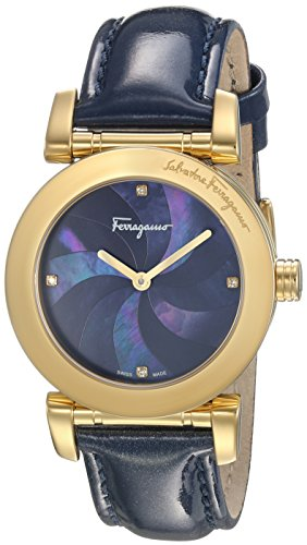 Salvatore-Ferragamo-Womens-LADY-Quartz-Stainless-Steel-and-Leather-Casual-Watch-ColorBlue-Model-FP1770016