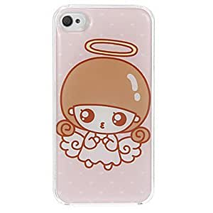 Lovely Angel Girl Pattern Epoxy Hard Case for iPhone 4/4S