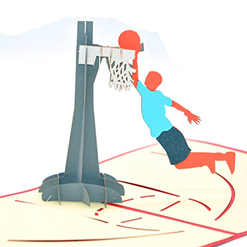 Medigy 3D Pop Up Congratulations Greeting Card for Basketball lover's Gifts