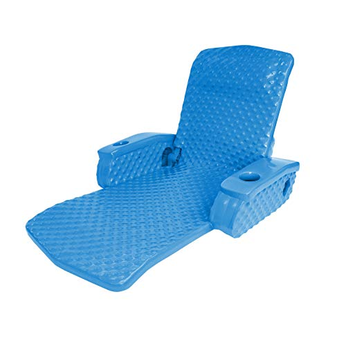 (oldzon Super Soft Adjustable Pool Lounge Recliner Float, Bahama Blue with Ebook)