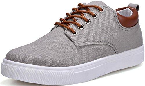 Satuki Canvas Schoenen Voor Heren, Lace Up Zachte Casual Atletische Lichtgewicht Sport Mode Sneakers Blauw