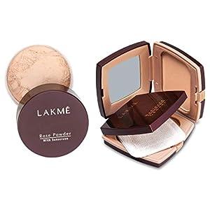 Lakmé Rose Face Powder, Soft Pink, 40g And Lakmé Radiance Complexion Compact Powder, Shell, 9g