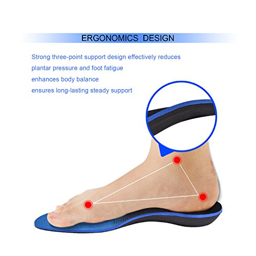 Orthotics for Flat Feet, Forcare Shoes Insoles with High Arch Support for Plantar Fasciitis Over-Pronation Heel Pain Relief (US Mens 8-8.5   Womens 10-10.5) by Forcare (Image #3)