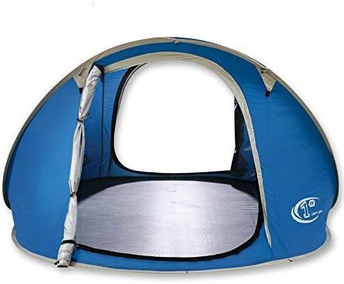 Stal Strand tenten, strandtenten automatisch Open Folding Outdoor Double Fishing Tent Rain Zonnescherm UV Tent (Kleur: 1), eenvoudig te installeren Draagbaar