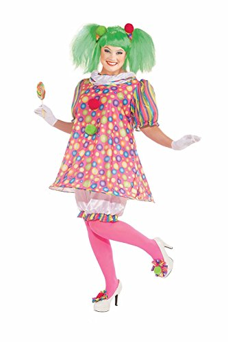 [Forum Novelties Women's Tickles Clown Plus Size Costume, Multicolor, Plus] (St Patrick Day Costumes Plus Size)