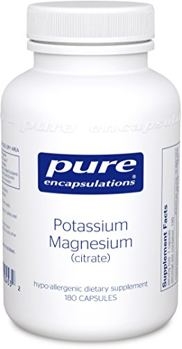 Pure Encapsulations - Potassium Magnesium (Citrate) - Hypoallergenic Supplement to Support Heart, Muscular, and Nerve Health* - 180 Capsules by Pure Encapsulations
