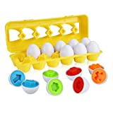 Anleolife Color Shape Matching Egg Set, Preschool Montessori Toys for Toddler Games, Educational Color Recognition Skills Learning