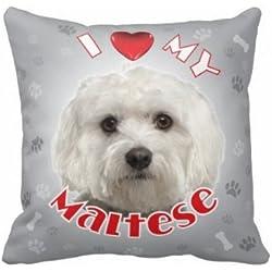 ILeesh iLove My Maltese Throw Pillow