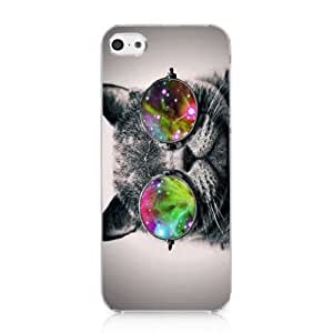 Galaxy Hipster Cat Case Hard Cover for Iphone 6 (4.5) 2013 New