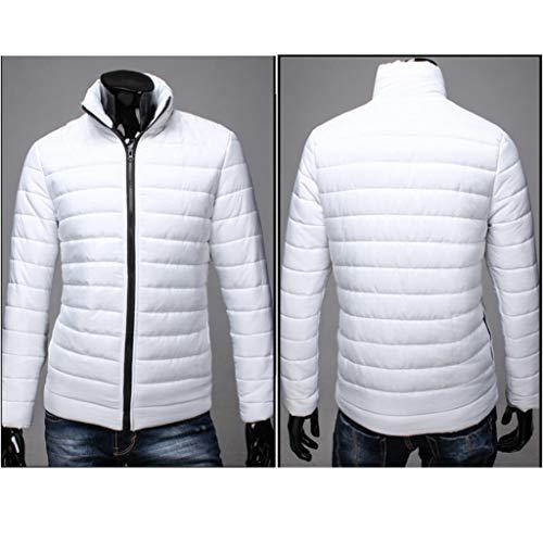 Outwear Colletto Bhydry Sottile Ragazzi Giacca Uomini Caldo Di Modo Di Alla Zip Coreana Solido Cappotto Bianco Cotone Invernale wS6SHq