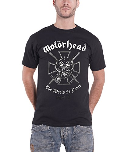 Motorhead Iron Cross The World is Yours warpig New official Mens T Shirt