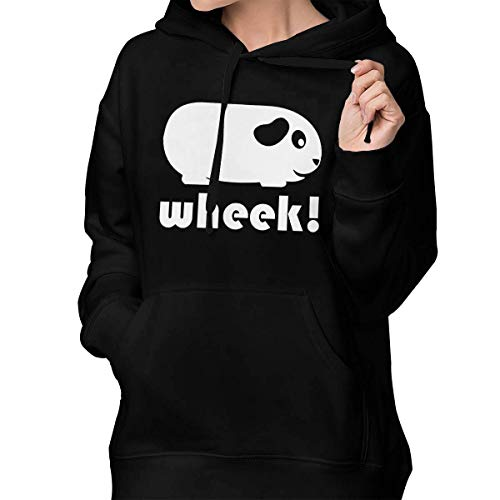 RS-pthrAC Women's Pullover Hoodie Customized Back Hoodie Sweatshirt Long-Sleeved with Pocket Black ()