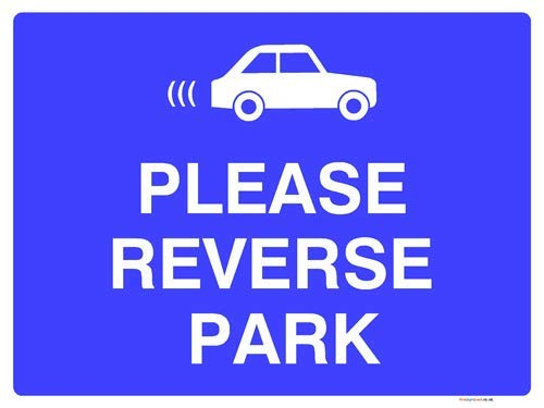 Please Reverse Park Sign Stickers Lable Decal Warning Sign Vinyl Self Adhesive 210X297Mm