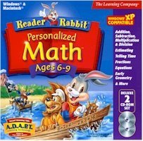 Brand New Learning Company Reader Rabbit Personalized Math 6-9 Deluxe 29 Games And Activities