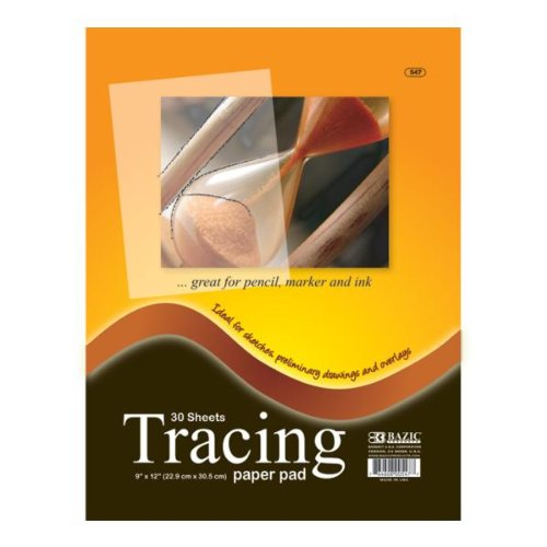 Bazic 30 Count 9'' x 12'' Tracing Paper Pad 48 pcs sku# 310211MA by Bazic