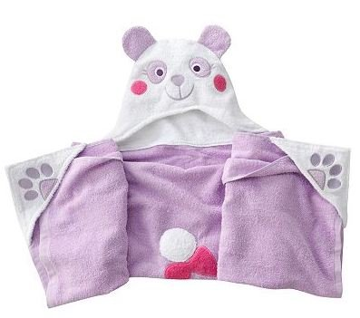 Children's Hooded Bath Towel Wrap