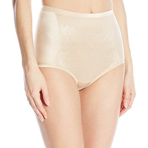 bac4c8adfd8a Vanity Fair Women's Smoothing Comfort with Lace Brief Panty 13262, Damask  Neutral, Medium/